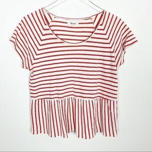 Madewell striped peplum top
